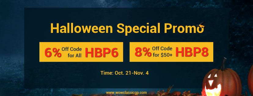 Up to 8% off cheap wow classic gold instant delivery for you to Join Halloween&Shadowlands Till Nov.4